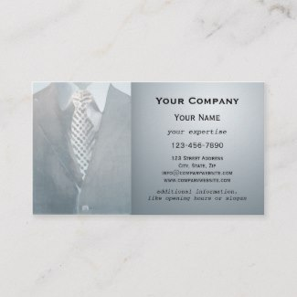 Classic Grey Suit Business Card