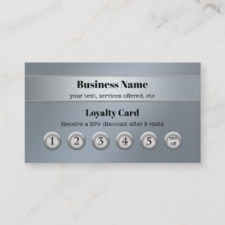 Blue Silver Customer Loyalty Business Card