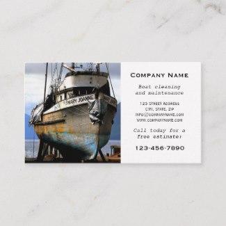 Ship Maintenance Business Card