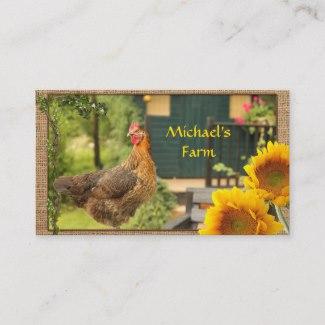 Chicken Sunflower Farmers Market Business Card