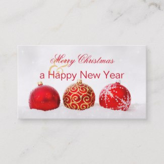 Christmas Holidays Customer Thank You Business Card