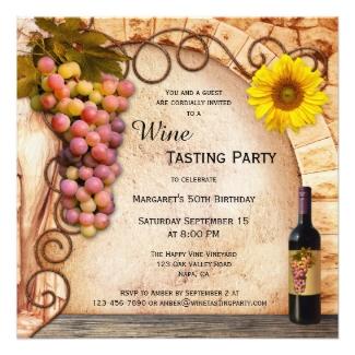 Classic Italian Style Wine Tasting Party Invitation