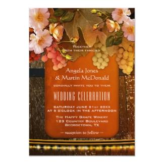 Colorful Modern Wine Themed Vineyard Wedding Invitation