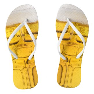 Cool Beer Glass Flip Flops