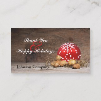 Christmas Customer Thank You Business Card