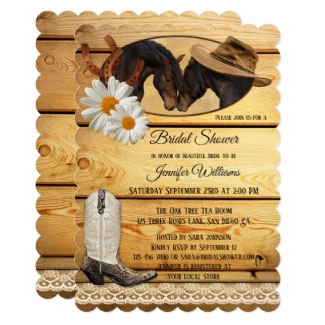 Country and Western Horses Bridal Shower Invitation