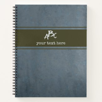 Custom Monogram Minimalist Grunge Notebook