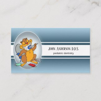 Pediatric dental appointment business card