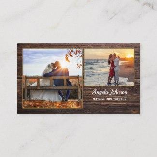 Dark Wood Photographer Business Card