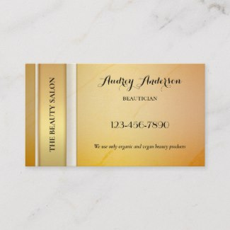 Elegant Gold Beauty Appointment Business Card