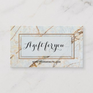 Stylish Marble Beauty Gift Certificate Template