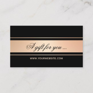 Rose Gold and Black Gift Certificate Template