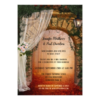 Enchanted forest post wedding invitation