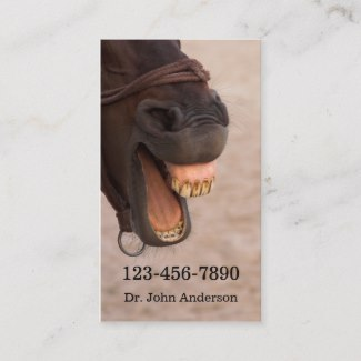 Funny Equine Dentistry Business Card