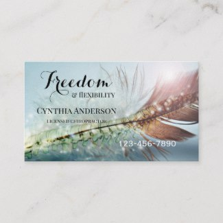 Chiropractic Appointment business card