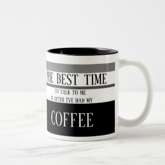 Funny Custom Quote Black and White Mug