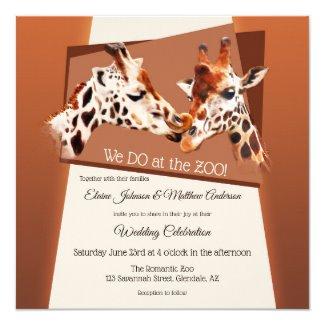 Giraffe Safari Zoo Wedding Invitation