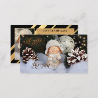 Cute Retro Christmas Gift Certificate Template