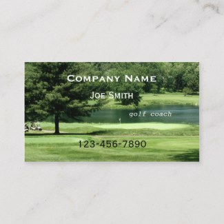 Golf Coach or Instructor Business Card