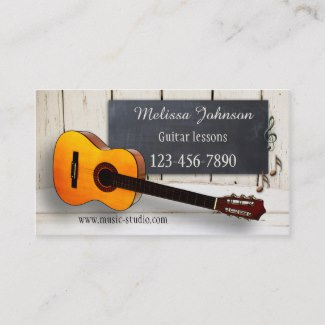 Guitar Lessons Appointment Business Card