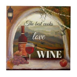 Italian Style Fine Art Wine Ceramic Kitchen Tile