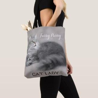 Cute Cat Crazy Cat Lady Tote Bag