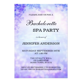 Lavender Lilac Spa Bachelorette Party Invitation