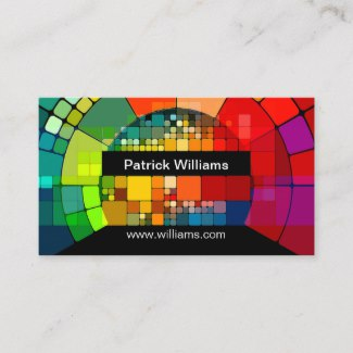 Colorful Modern Art Business Card