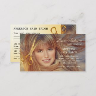 Modern Hair Salon Appointment Business Card