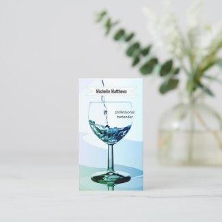 Modern Artistic Professional Bartender Business Card