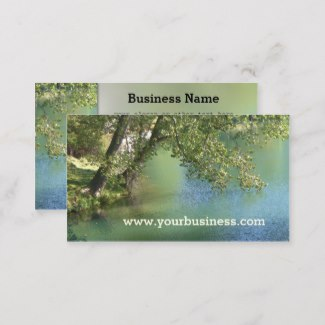Nature Trees Lake Business Card