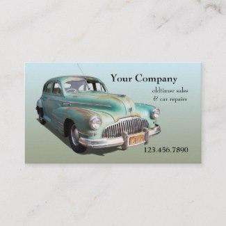 Vintage Oldtimer Car Sale Repair Business Card