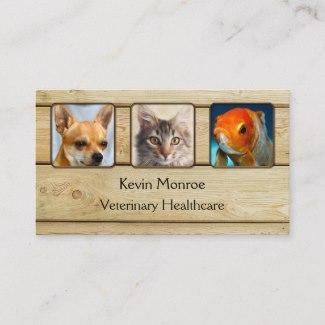 Custom Photo Wood Business Card