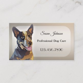 Professional Dog Care Grooming Business Card