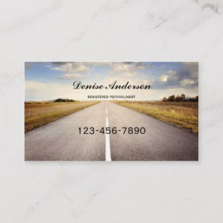 Psychologist or Counselor Appointment Business Card