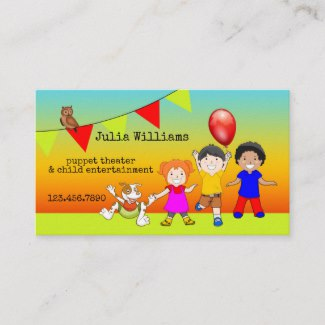 Colorful Child Entertainment Business Card