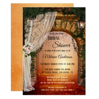 Romantic Enchanted Forest Bridal Shower Invitation