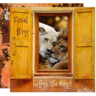 Sweet Lions Big Cat Bachelorette Party Invitation