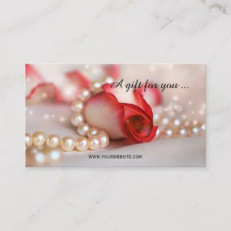 Romantic Rose and Pearls Gift Certificate Template