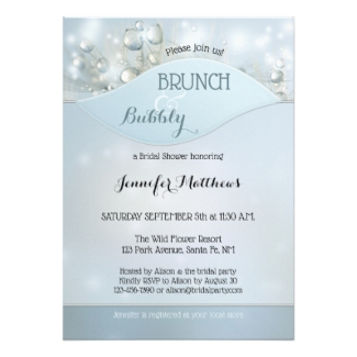 Sparkling Bubbly Brunch Bridal Shower Invitation