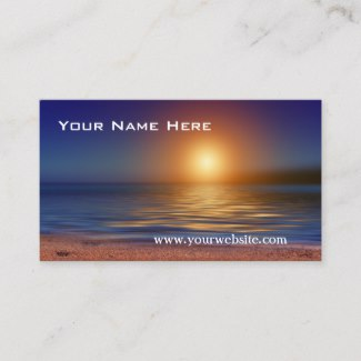 Romantic Tranquil Beach Sunset Business Card