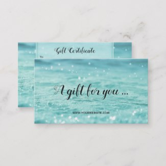 Water Sparkles Beauty Spa Gift Card Template