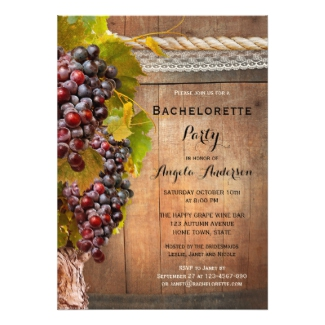 Winery Vineyard Bachelorette Party Invitation