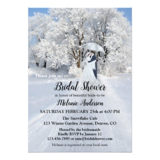 Winter Wonderland Fine Art Bridal Shower Invitation