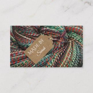 Yarn Dye Crochet and Knitting Wool Business Card