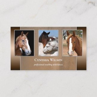 Horse themed business card