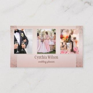 Custom Photos Classic Elegant Wedding Planner Business Card