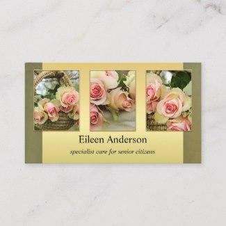 Personalized Photos Senior Citizen Care Nurse Business Card