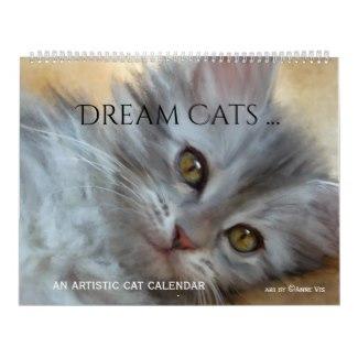 Artistic Painted Dream Cats Calendar