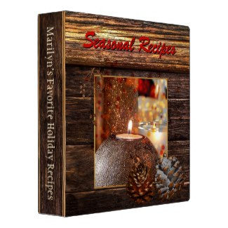 Dark Wood and Candles Holiday Recipe Binder